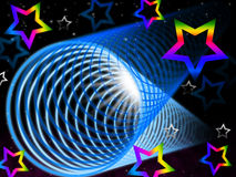 Coil Background Means Brightness And Rainbow Stars Royalty Free Stock Photography
