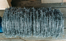 Coil of barbed wire Stock Photos