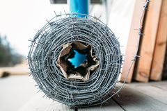 Coil of barbed wire Royalty Free Stock Photography
