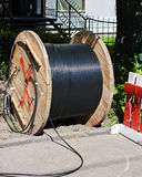 Coil with cable outdoor Stock Photos
