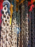 Coil Chains, Heavy Duty Tow Truck Chains Stock Photography