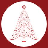 Coil Christmas Tree. With shapes stars topper and base Royalty Free Stock Image