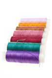 Coil with colored threads Royalty Free Stock Photo