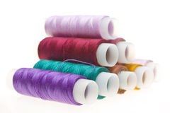 Coil with colored threads Royalty Free Stock Photography