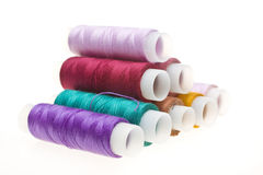 Coil with colored threads Stock Photo