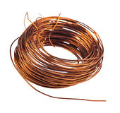 Coil of copper wire Royalty Free Stock Image