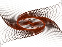 Coil formation. Kaleidoscopic coil shape of red wire Royalty Free Stock Photography
