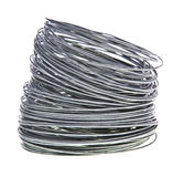 Coil of galvanized wire Royalty Free Stock Image