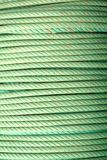 Coil of green ropes Royalty Free Stock Image