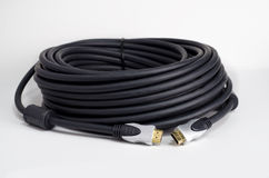 Coil of HDMI cable Royalty Free Stock Images