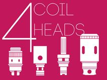 4 coil heads set Stock Image