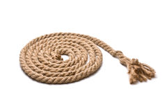 Coil of hemp rope Royalty Free Stock Photos