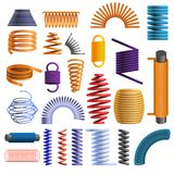 Coil icon set, cartoon style stock illustration