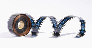 Coil of movie film Stock Image