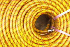 Coil of nylon rope Royalty Free Stock Images