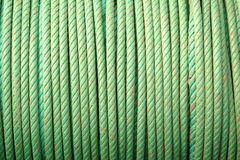 Coil Of Green Ropes Royalty Free Stock Images