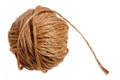 Coil Of Hemp Twine Royalty Free Stock Images