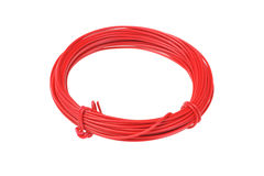 Coil of Red Wire Stock Image
