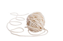 Coil of rope. On a white background Stock Image