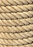Coil of Rope Close-Up Stock Photo