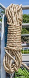 Coil of rope. Stock Photo