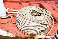 Coil of rope Stock Photo
