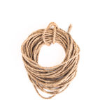 Coil of rope on a white background Royalty Free Stock Photo