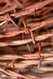 Coil of Rusty Barbed Wire Stock Images
