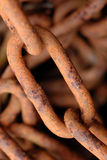 Coil of Rusty Steel Chains Royalty Free Stock Images