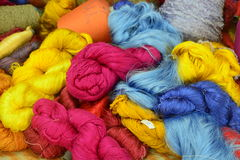Coil of silk thread Stock Photos