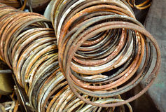 Coil spring rusty for car Royalty Free Stock Image