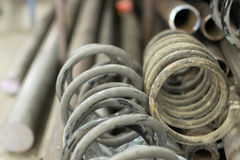 Coil spring rusty Stock Photography