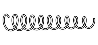 Coil spring steel spring  metal spring on white background vector Royalty Free Stock Images