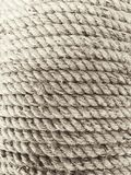 Coil of three strand manila fiber rope Stock Images