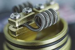 Coil for vaping Royalty Free Stock Photography