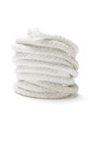 Coil of white rope. On isolated background Royalty Free Stock Image
