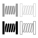 Coil with wire icon set grey black color. Outline Royalty Free Stock Images