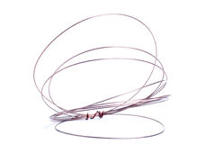 Coil of wire isolated on white background Stock Photography