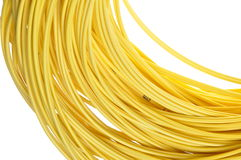 The coil of yellow cord Stock Photos