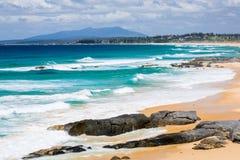 Coila Beach From Bingie Bingie Point Royalty Free Stock Photo