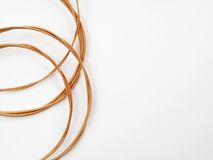 Coiled acoustic guitar strings Stock Images