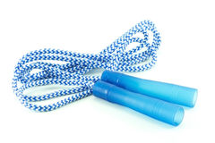 Blue and white jump rope Royalty Free Stock Photography