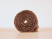 Coiled chain Stock Photography