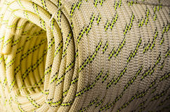 Coiled climbing rope Royalty Free Stock Image