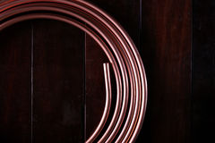 Coiled copper Royalty Free Stock Images