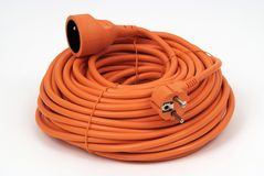 Coiled Extension Cord Royalty Free Stock Image
