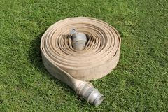 Coiled Fire Hose. Stock Images