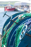 Coiled fishing nets Royalty Free Stock Photography