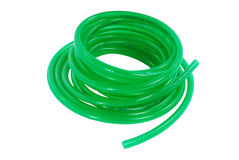 Coiled green garden hose Stock Photography
