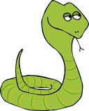 Coiled green snake. This illustration that I created depicts a coiled green snake Stock Image